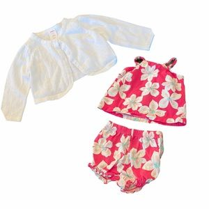 Gymboree/ Carters Cardigan and outfit